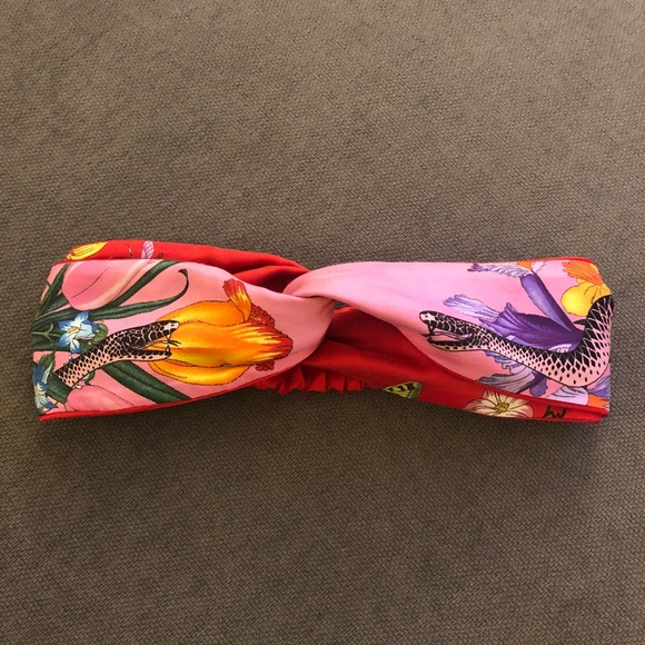 9f04ec43eb0 Gucci Accessories - Gucci Flora Snake Print Headband
